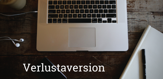 Verlustaversion Blogbanner